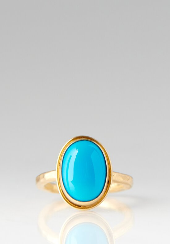 Greig Porter 18K Gold & Sleeping Beauty Turquoise Ring