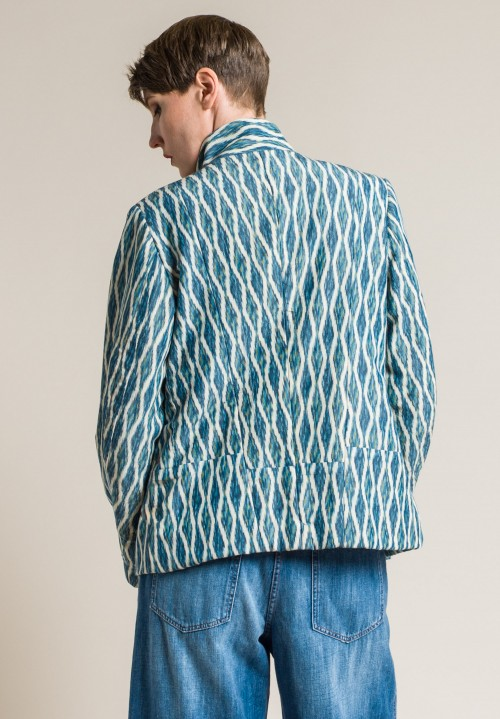 Casey Casey Vintage Kimono Short Jacket in Blue Diamond