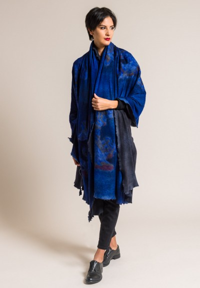 Avant Toi Cashmere/Silk Large Felted Patchwork Shawl in China