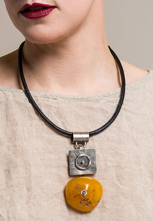 Holly Masterson Large Old Tibetan Amber Adornment