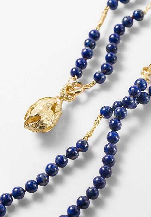 Tovi Farber 18K, Diamond Pendant & Lapis Necklace