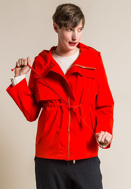 Ms MIN Hooded Jacket with Detachable Down Shell in Orange
