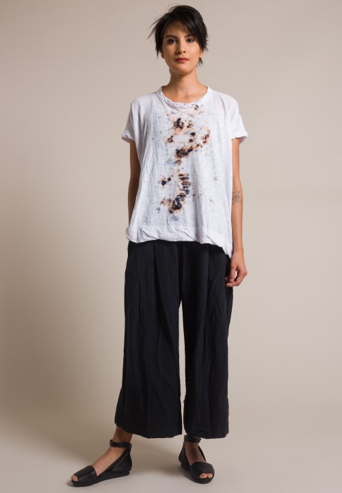 Gilda Midani Splatter Dyed Square Tee White & Blue