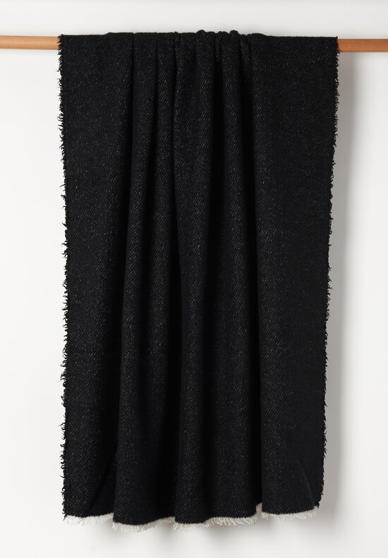 Alonpi Cashmere Cashmere/ Silk Maracana Throw in Black