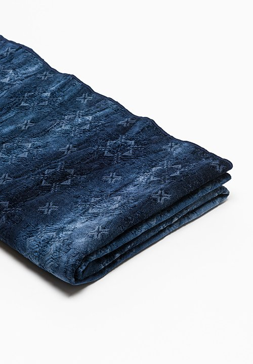 Spray & Dyed Throw in Katmandou Indigo