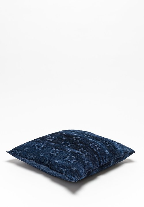 Spray & Dyed Square Pillow in Katmandou Indigo