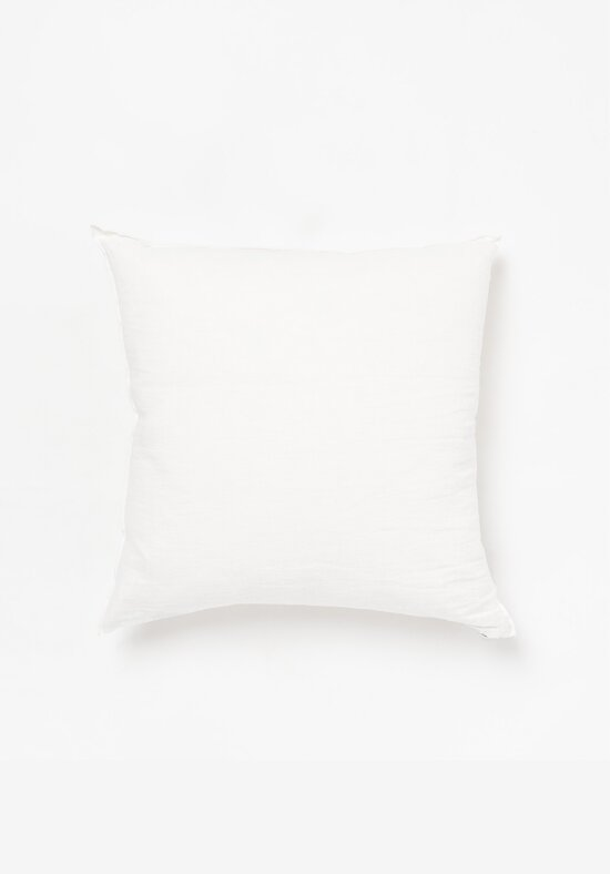 Maison de Vacances Crumpled Washed Square Linen Pillows in Cream