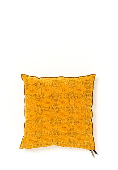 Stone Washed Jacquard Square Pillow in Kilim Ambre
