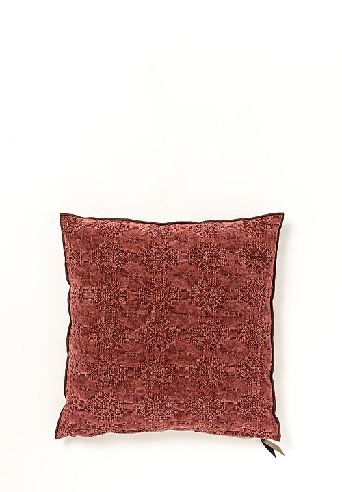 Stone Washed Jacquard Square Pillow in Kilim Chianti