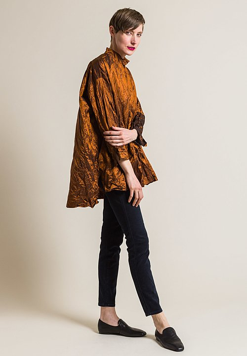Daniela Gregis Washed Silk Kora Top in Rust