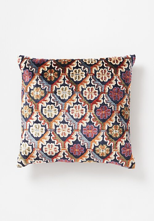 Tibet Home Silk/ Cotton Square Hand Knotted & Woven Pillow in Pema Chakdro
