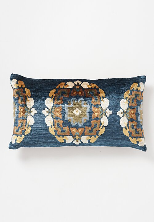 Tibet Home Silk/ Cotton Hand Knotted & Woven Lumbar Pillow in Khorlo