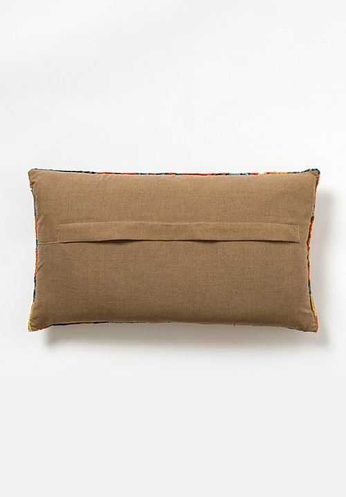 Tibet Home Hand Knotted & Woven Lumbar Pillow in Cloud Orange