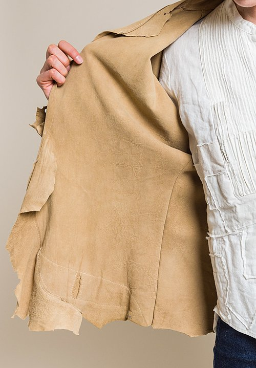 Susan Riedweg Lamb Leather Fittedish Jacket in Sand