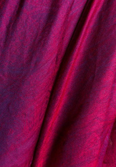Etro Cashmere/Silk Sheer Jacquard Scarf in Plum