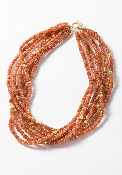 Greig Porter 18K & Sunstone Necklace