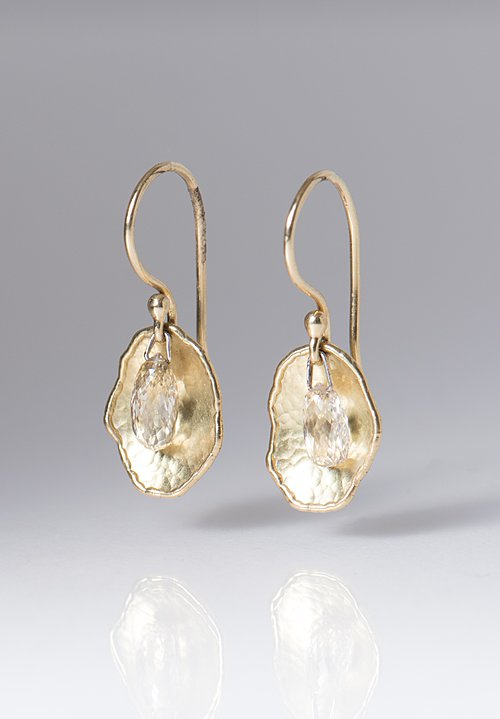 Tap by Todd Pownell 18K, Suspended Briolette Diamond, Cloud Drops