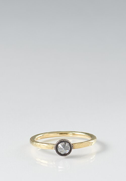 TAP by Todd Pownell 18k, Darkened & Inverted Diamond Ring