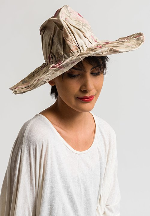 Kloshar the Hat Maker Floral Wide Brim Hat