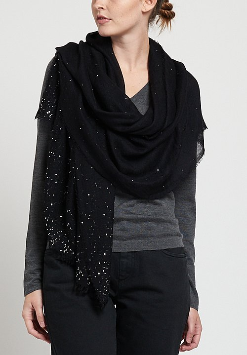 Faliero Sarti Valery Sequin Scarf in Black