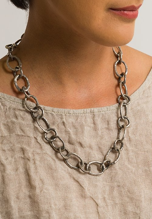 Holly Masterson Oval Link Sterling Silver Necklace