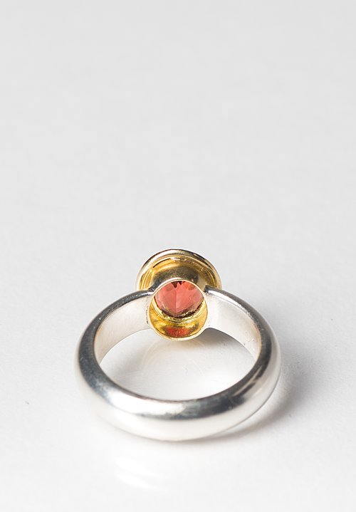Greig Porter 18K, Oval Sphalerite, and Sterling Silver Ring