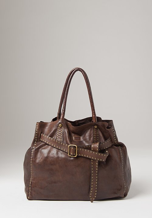 Campomaggi Shopping Bag with Studs in Brown