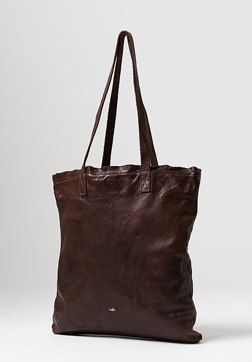 Campomaggi Big Flat Shopping Bag in Brown