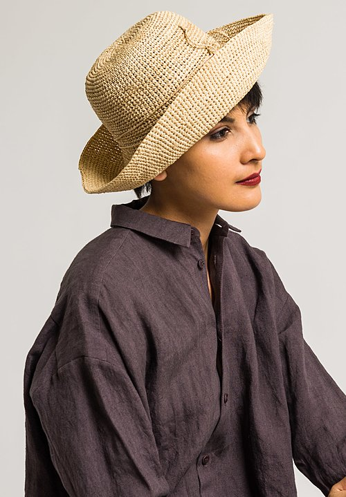 Sans Arcidet Raffia Fany Hat in Natural