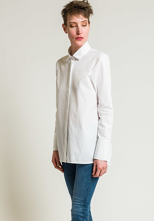 Lareida Cotton Taylor Shirt in White Gold