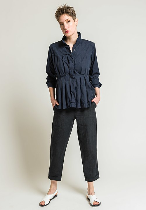 Casey Casey Cotton Charlotte Shirt in Navy