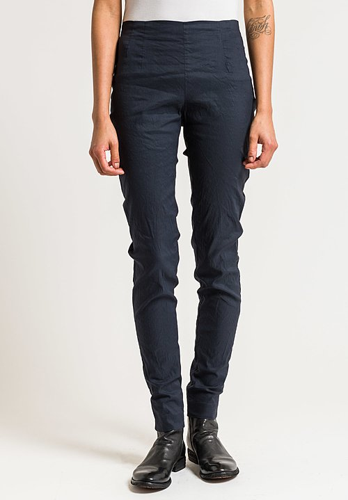 Rundholz Stretch Cotton/Linen Skinny Pants in Saphir