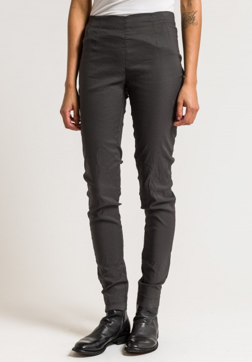 Rundholz Stretch Cotton/Linen Skinny Pants in Opal