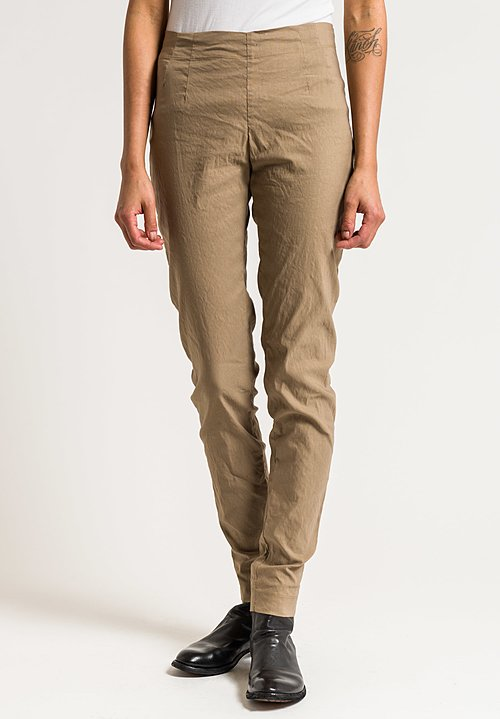 Rundholz Stretch Cotton/Linen Skinny Pants in Bernstein