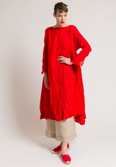 Daniela Gregis Washed Linen Newpride Long Dress in Red