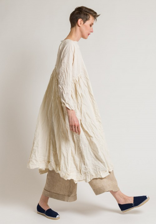 Daniela Gregis Washed Soft Linen Newpride Dress in Light Yellow