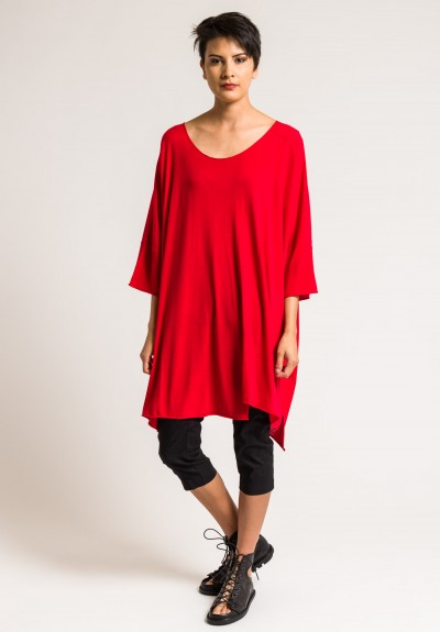 Rundholz Black Label Knitted Tunic in Red