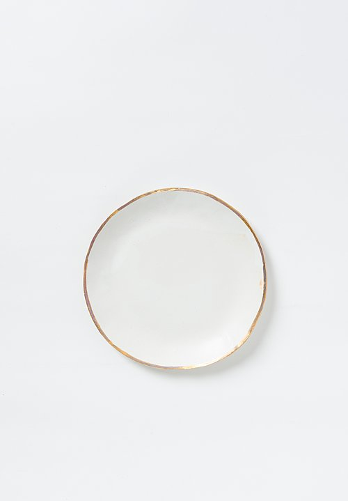 Jan Burtz Porcelain Dining Plates with Gold Trim
