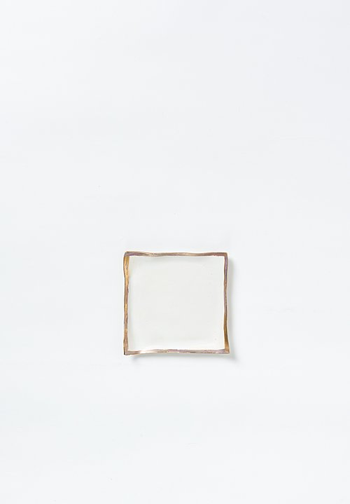 Jan Burtz Porcelain Square Tray White/ Gold
