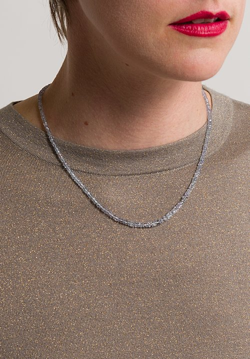Denise Betesh 22K, 18K Light Blue Sapphire Necklace