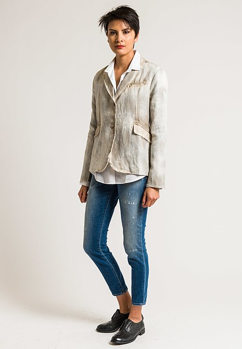 Avant Toi Hemp Lightweight Blazer in Corda
