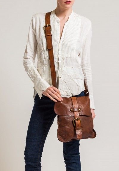 Campomaggi Crossbody Bag with Buckle in Cognac