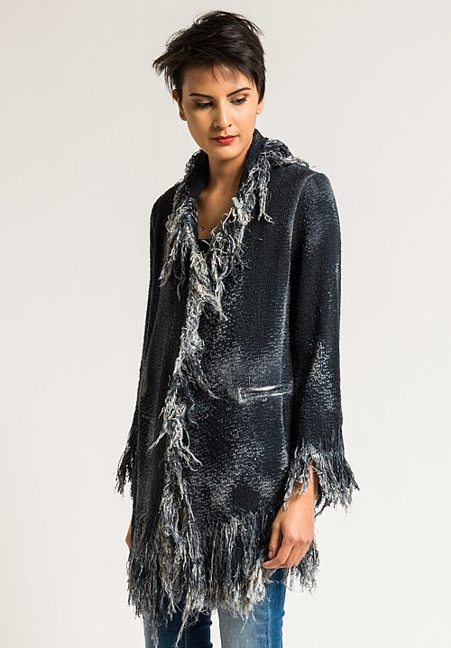 Avant Toi Cotton Fringe Jacket in Husky