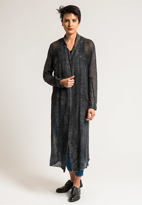 Avant Toi Linen/Cotton Long Mesh Jacket in Corda