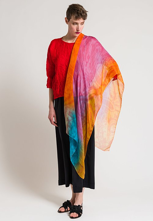 Etro Cashmere Ombre Scarf in Pink and Orange