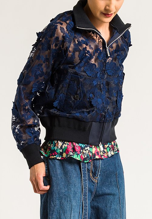 Sacai Flower Jacket in Navy