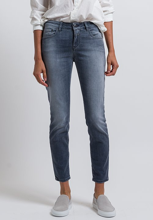 Closed Baker Cropped Narrow Jeans in Asphalt Grey