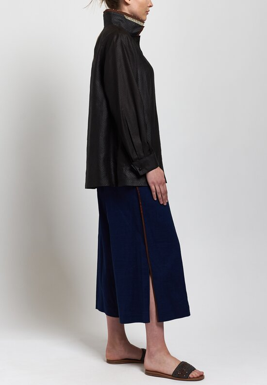 Sophie Hong Linen Culottes in Blue