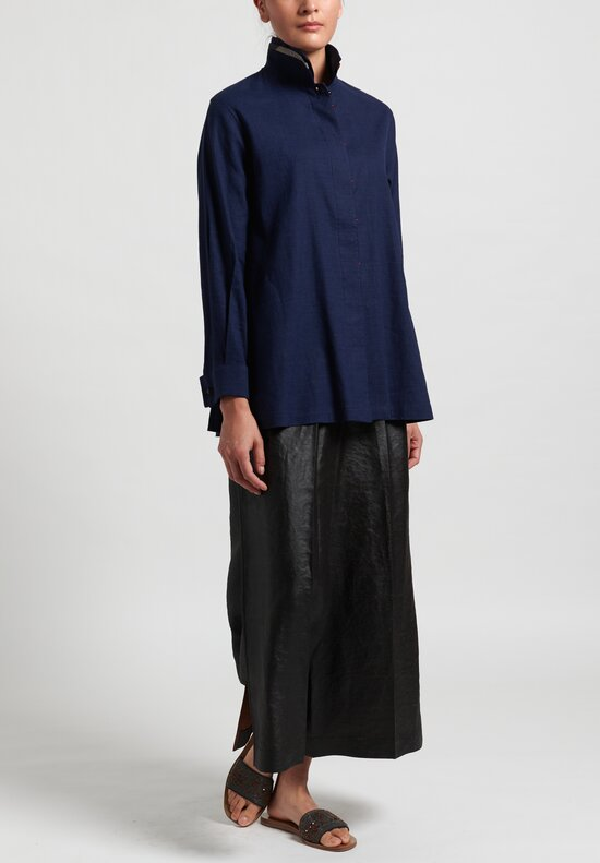 Sophie Hong Linen Shirt in Blue