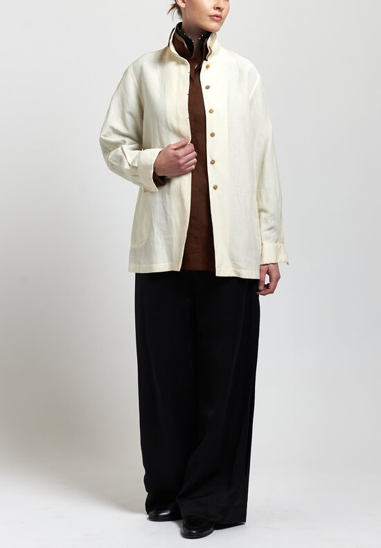 Sophie Hong Linen Shirt in Beige